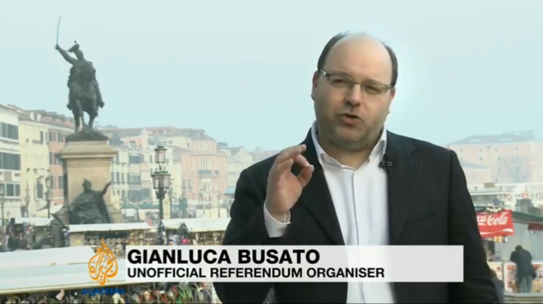 Pubblichiamo il servizio trasmesso dalla TV internazionale ALJAZEERA, andato in onda il 21 marzo scorso, sul Referendum di indipendenza del Veneto. All'interno interviste a Franco Tonello e Gianluca Busato.