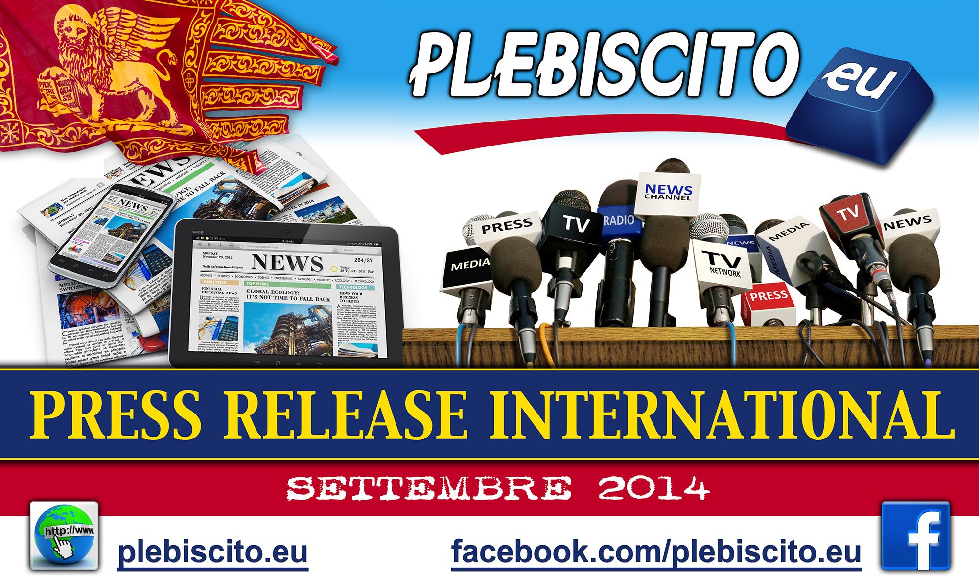 Nelle ultime settimane abbiamo registrato un'enorme attenzione mediatica internazionale verso Plebiscito.eu e Gianluca Busato. Scarica la Rassegna Stampa internazionale degli ultimi 15 giorni (39 pagine, 23,4 MB):