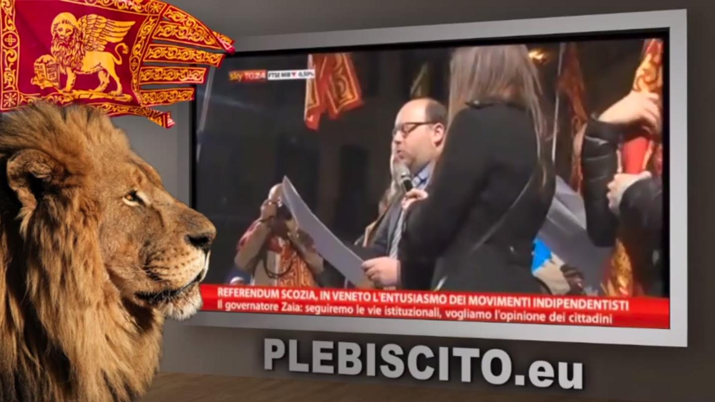 """Pubblichiamo il servizio su Plebiscito.eu di Sky TG24 """"Referendum Scozia, Veneto: entusiasmo degli indipendentisti"""", trasmesso il 17 settembre 2014."""