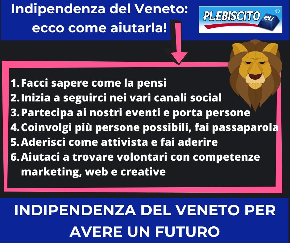 Indipendenza del Veneto: ecco come aiutarla!
