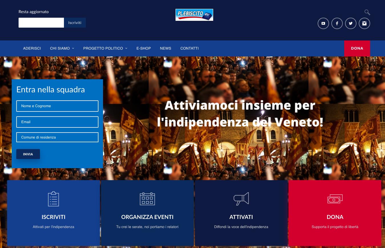 Online il nuovo sito web di Plebiscito.eu