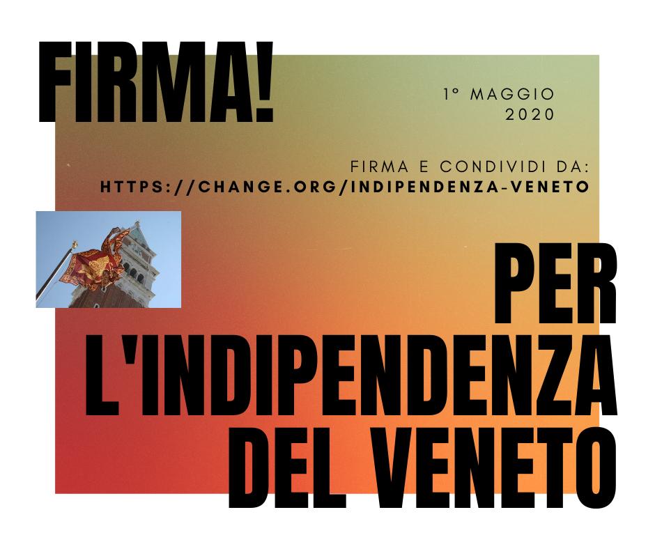 2000 FIRME GIÀ RAGGIUNTE! Grande successo della Petizione per l'indipendenza del Veneto